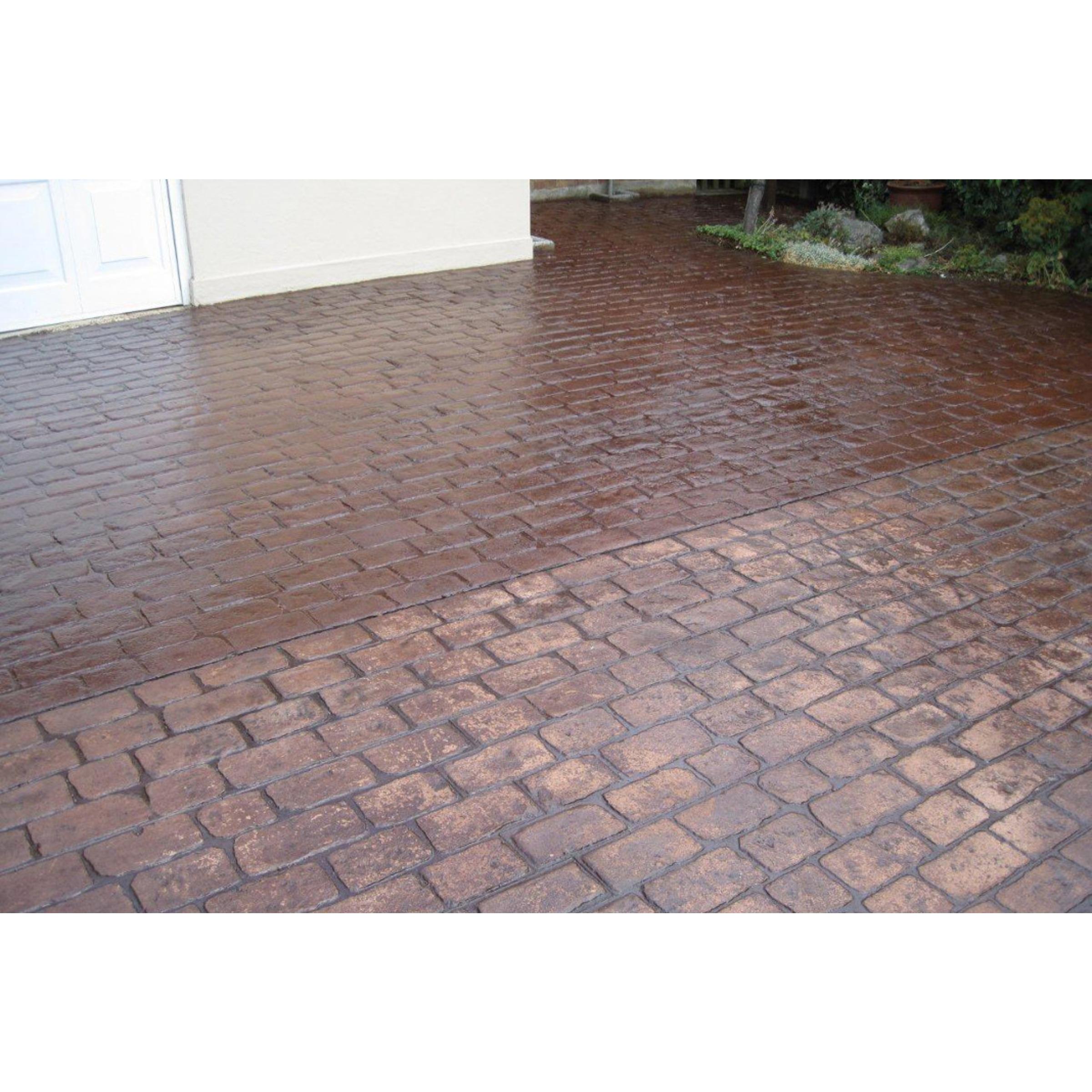 Satin Finish Cement : Wet look imprinted concrete sealer