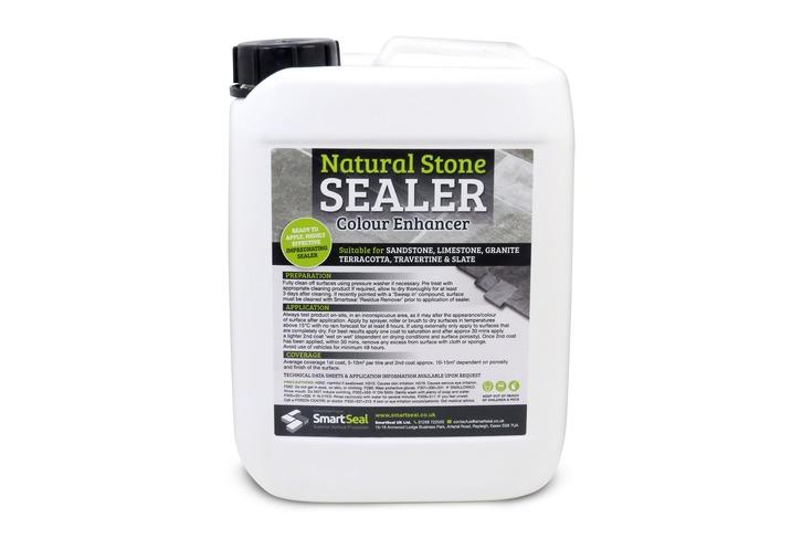 Natural Stone Sealer 'COLOUR-ENHANCED' Finish - High Quality, Impregnating, Durable Sealer for Sandstone, Limestone, Slate, Granite & more