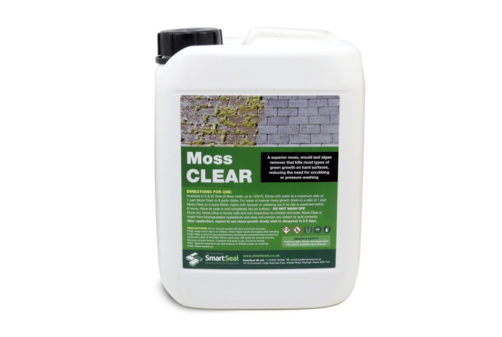 Moss Killer & Algae Remover for Driveways, Patios & Roofs