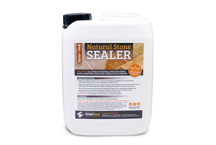 Natural Stone Sealer - Protective 'WET LOOK' finish - Gives a durable, clear finish. *Not recommended for use on polished stone.*