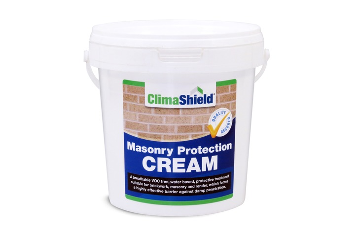Penetrating damp proofing cream for waterproofing brickwork and masonry